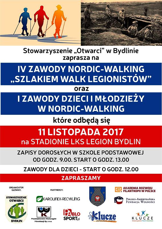 Zawody NORDIC-WALKING dla dorosłych i dzieci