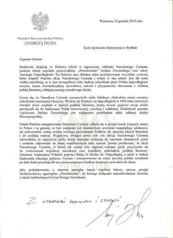 List Prezydenta kopia